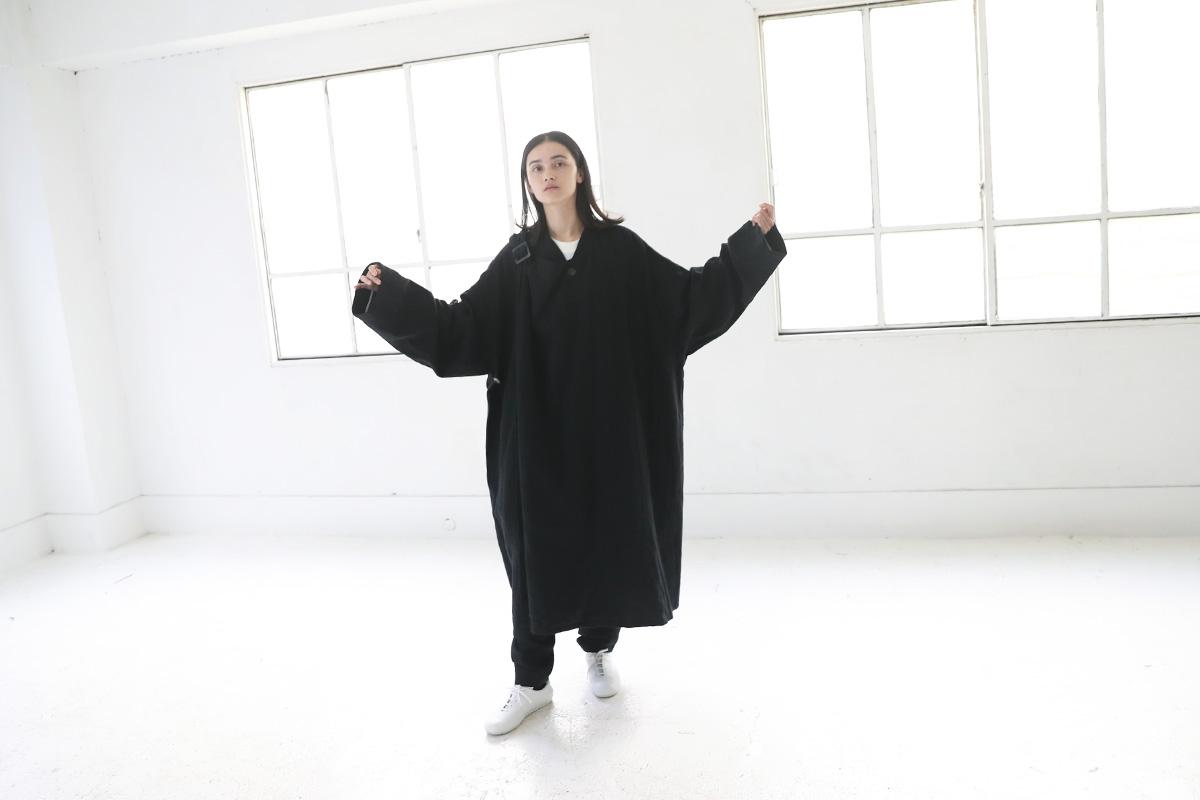 Edwina Hoerl エドウィナホール PILGERMANTEL[04/EH42C-01/black]
