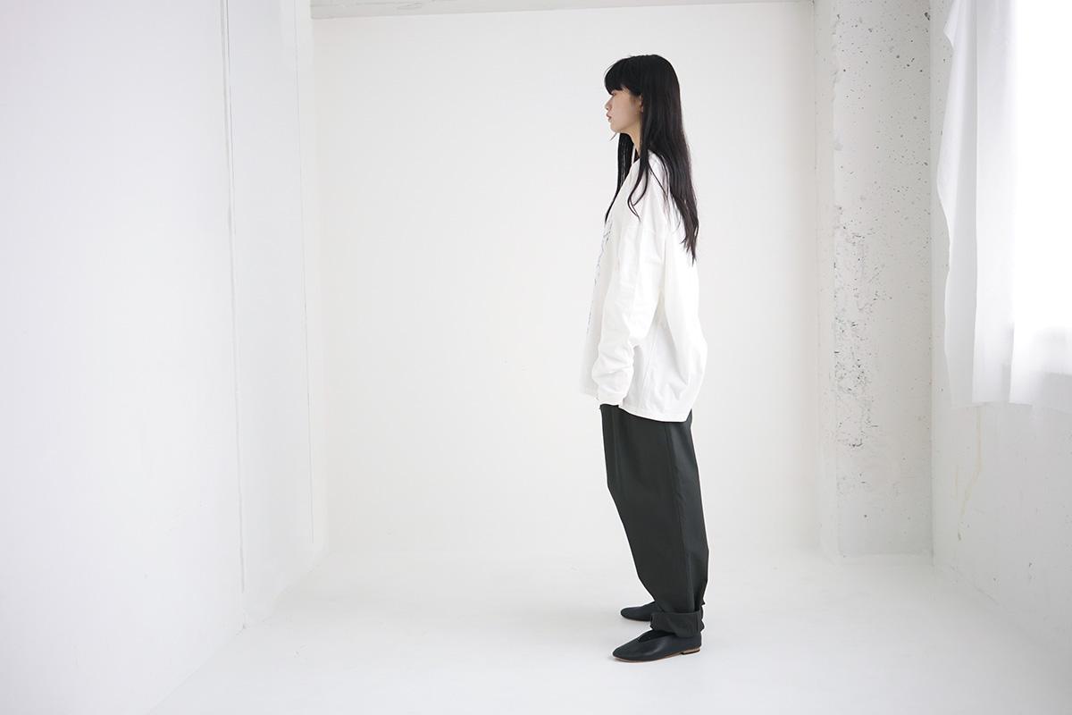 Edwina Hoerl エドウィナホール LANGARM T-SHIRT<FUR JEDE ZEIT>[09A/D42TS-02/white]