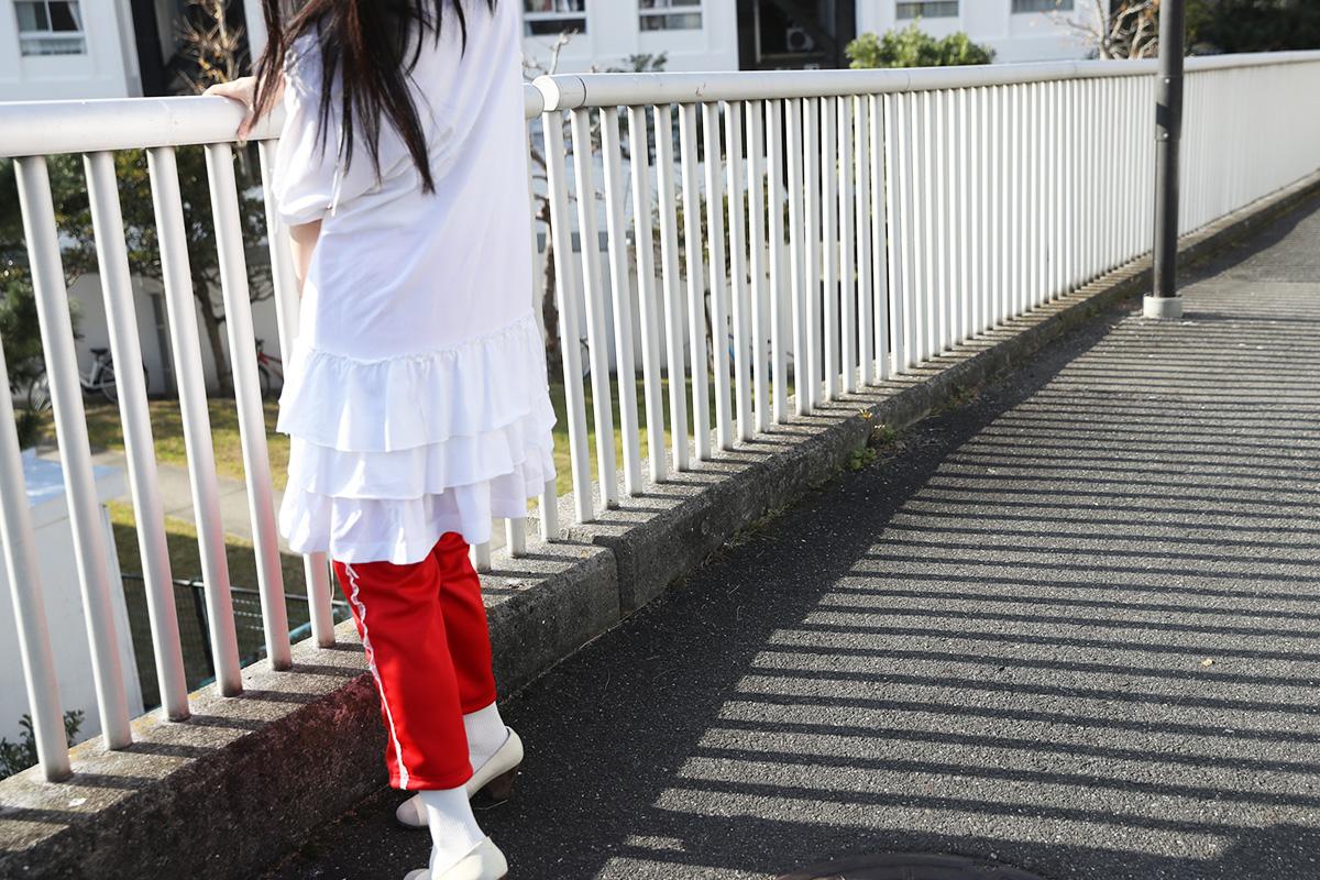 keisuke kanda ケイスケカンダ リボン縫いのポロシャツワンピ[O3/白]