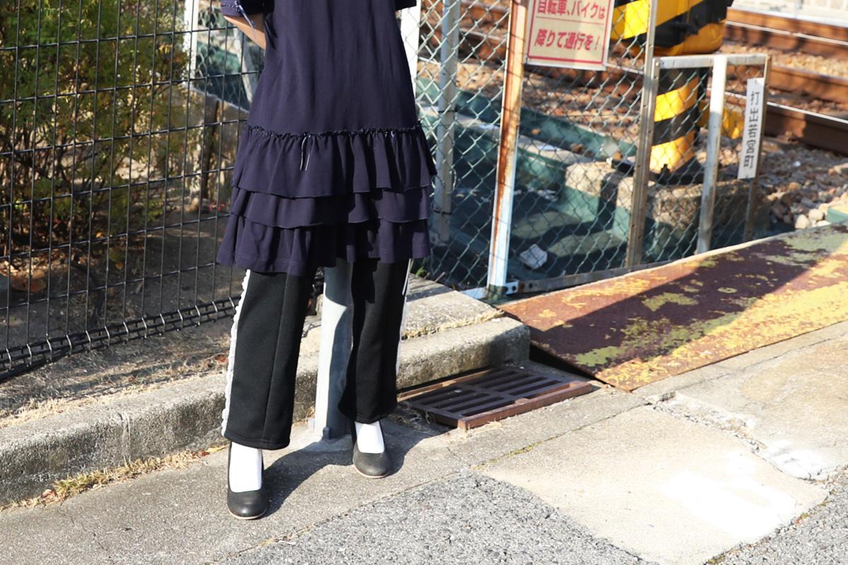 keisuke kanda ケイスケカンダ レースまみれのジャージ・下[J15/黒白]