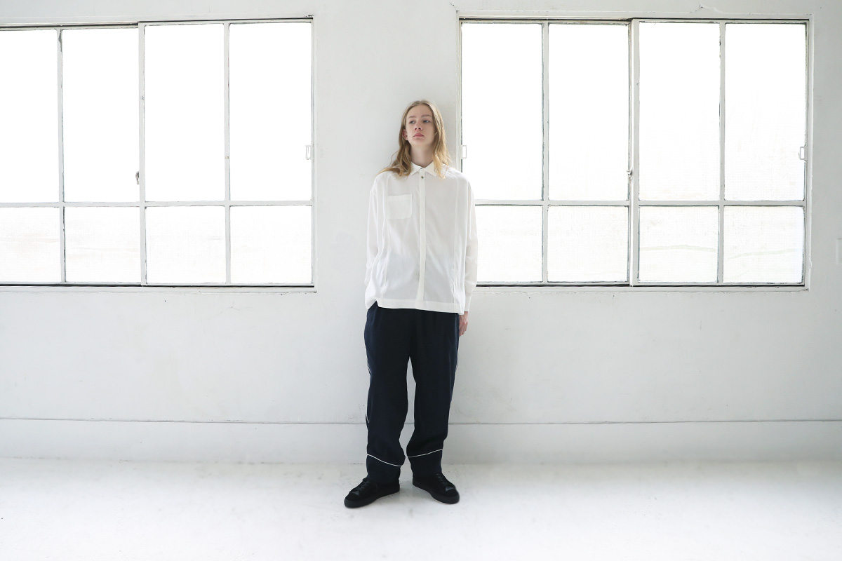 ohta オオタ white wide shirts  [st-52W]