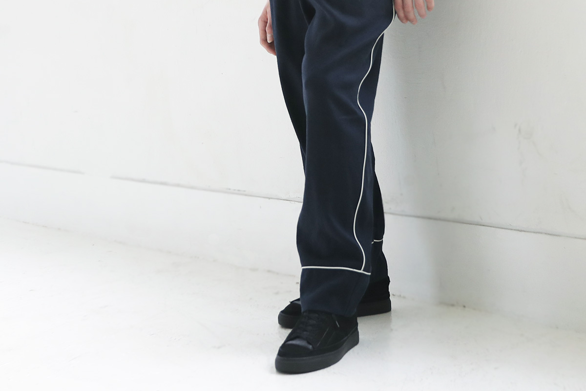 ohta オオタ navy silk linen pants  [pt-25N]