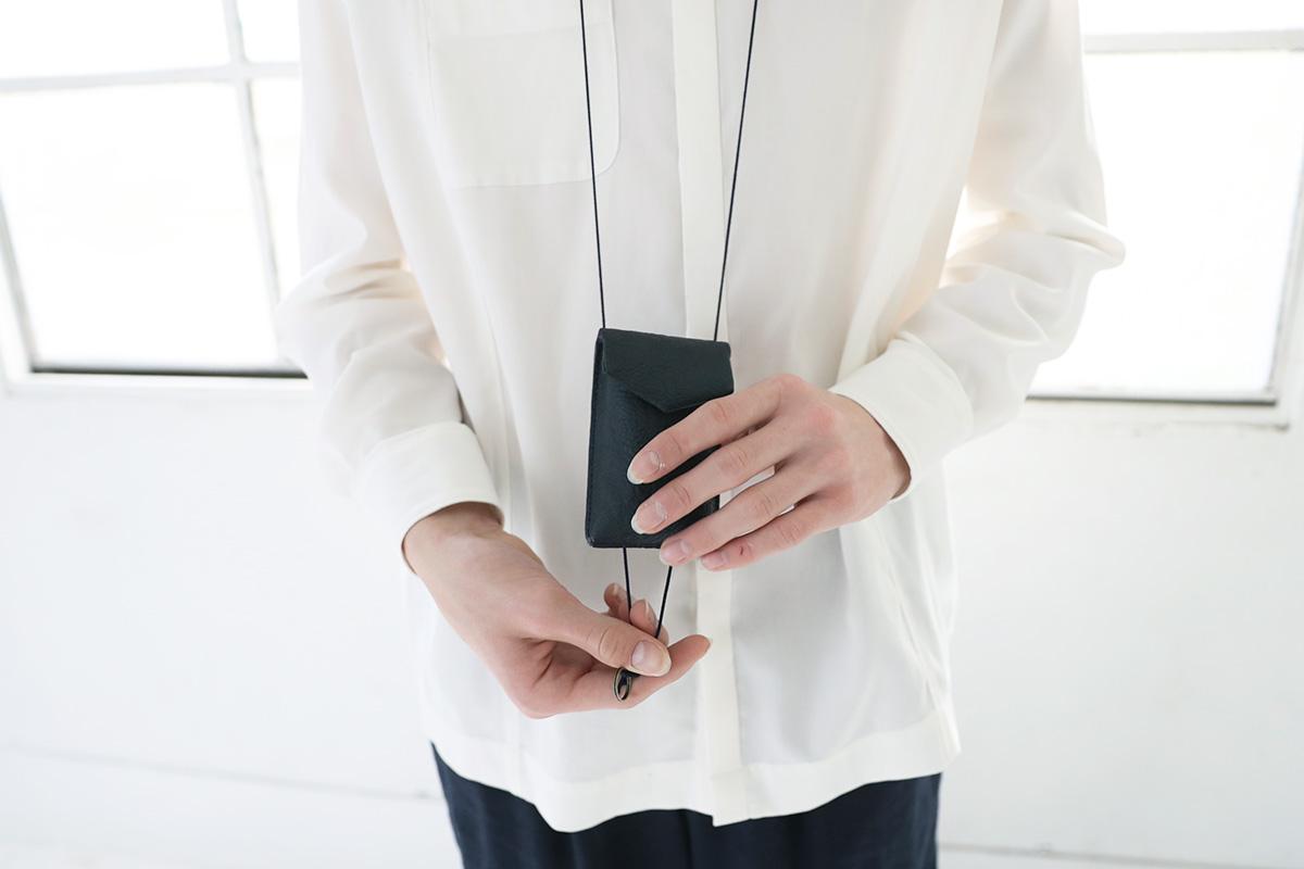 ohta オオタ navy key pouch  [ac-22N4]