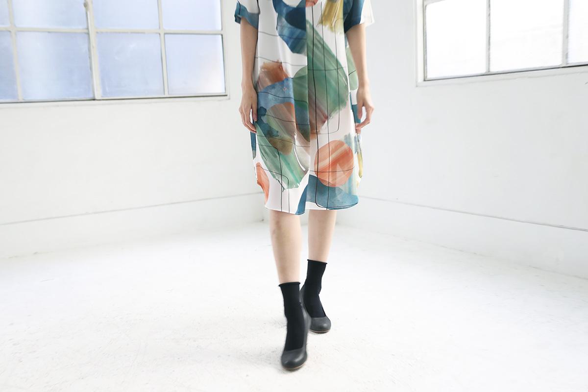 ohta オオタnijimi dress [op-22N]