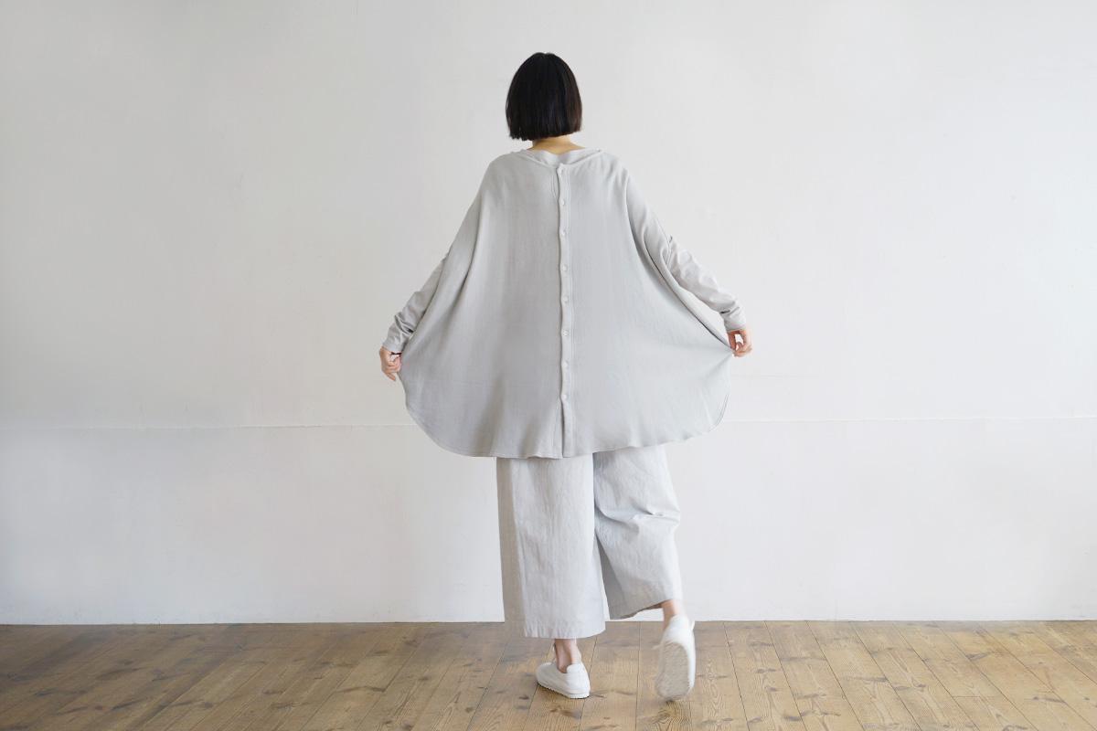 Mochi モチ cocoon vest [grey fog]