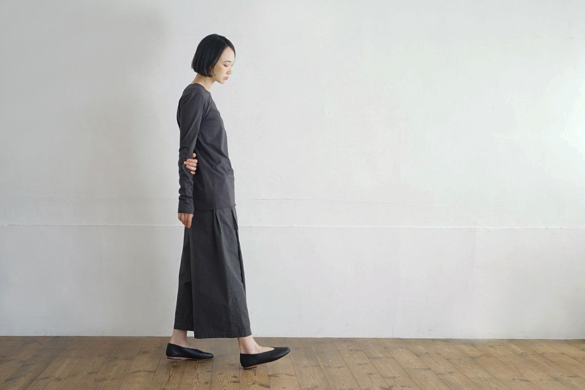 Mochi モチ cotton silk cut&saw [charcoal grey]