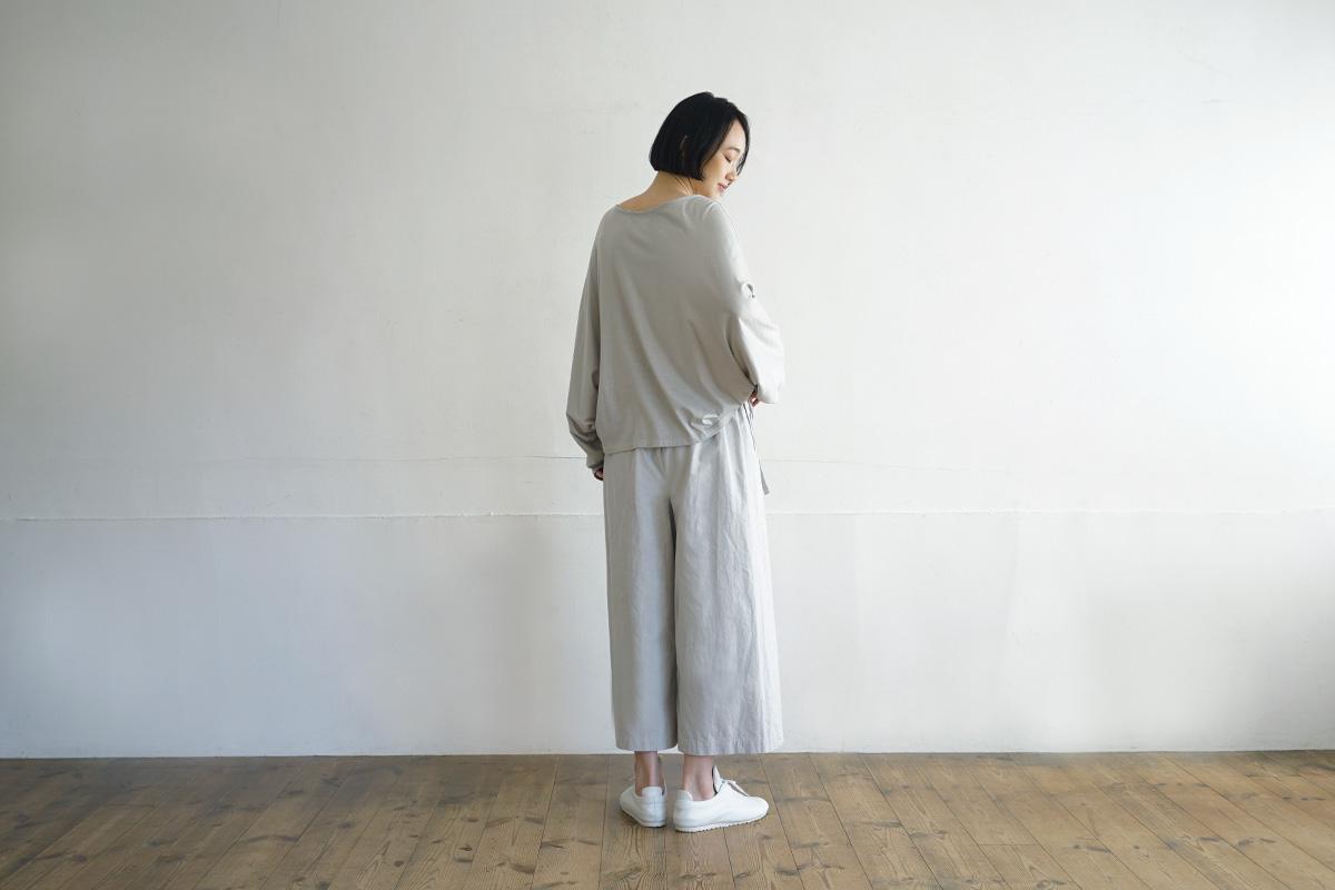 Mochi モチ wrap pants [grey fog]
