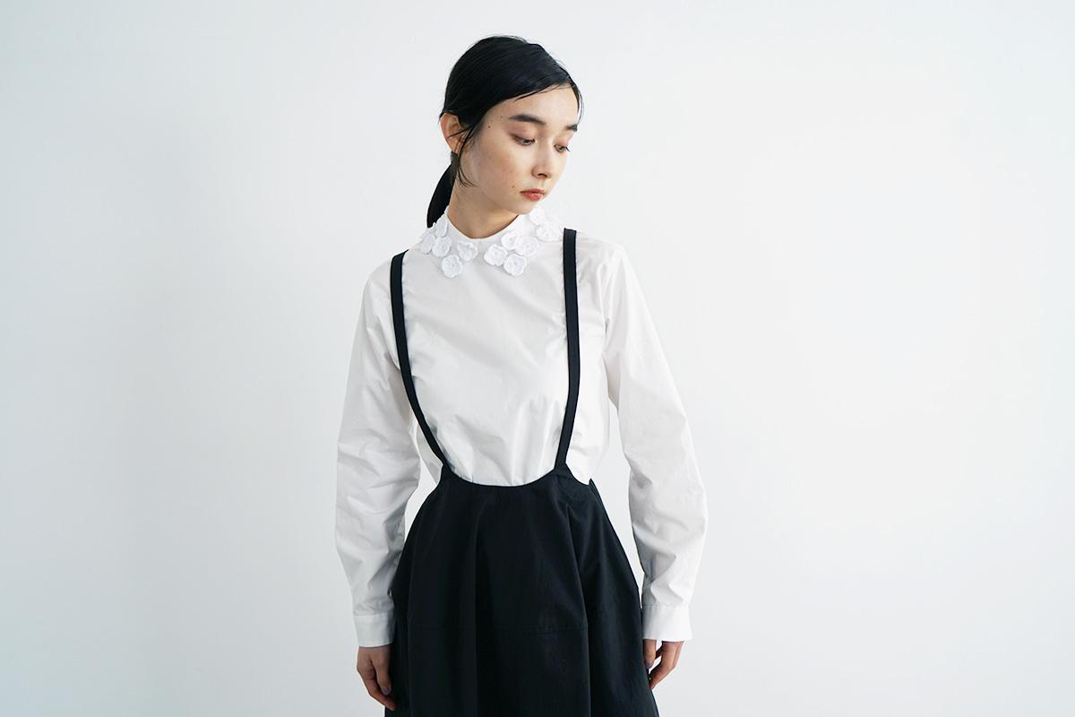 MIYAO ミヤオ BLOUSE[MVBL-08/2.白×白×白]