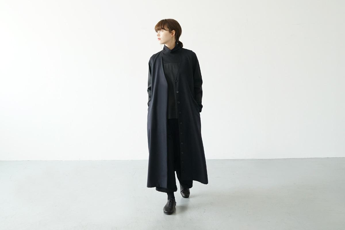 Mochi vest dress [ma21-op-04/black]
