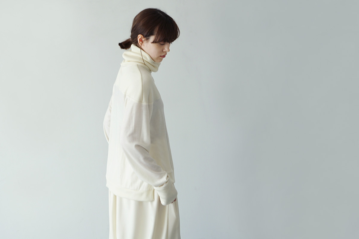 Mochi turtleneck knit [ma21-kn-01/white]