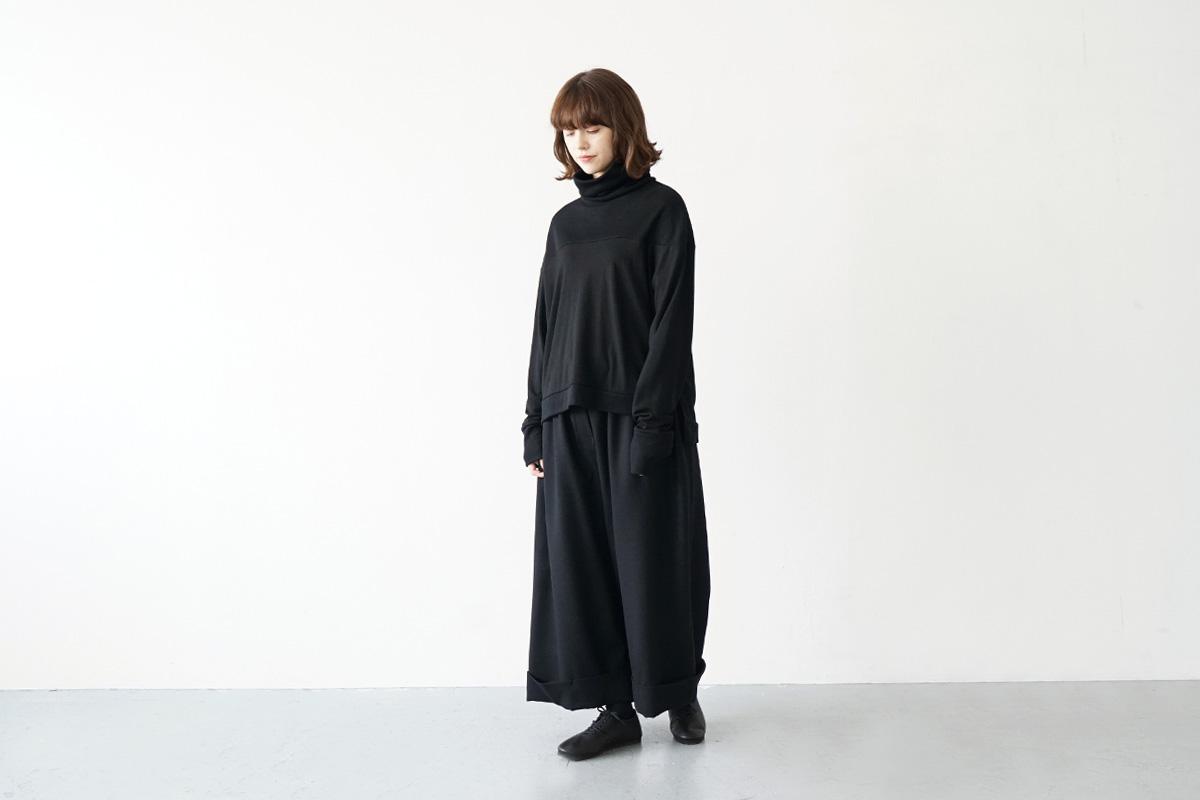 Mochi turtleneck knit [ma21-kn-01/black]