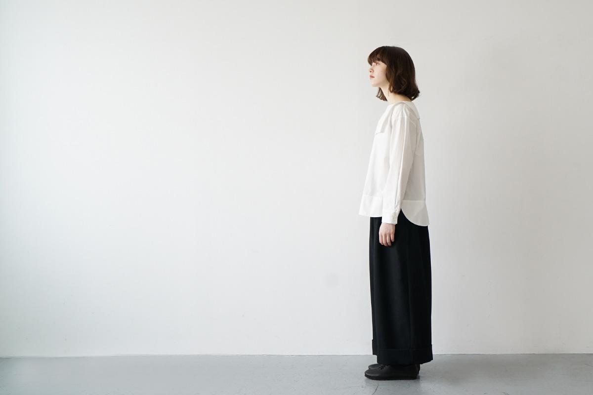 Mochi sailor shirt [ma21-sh-01/white]