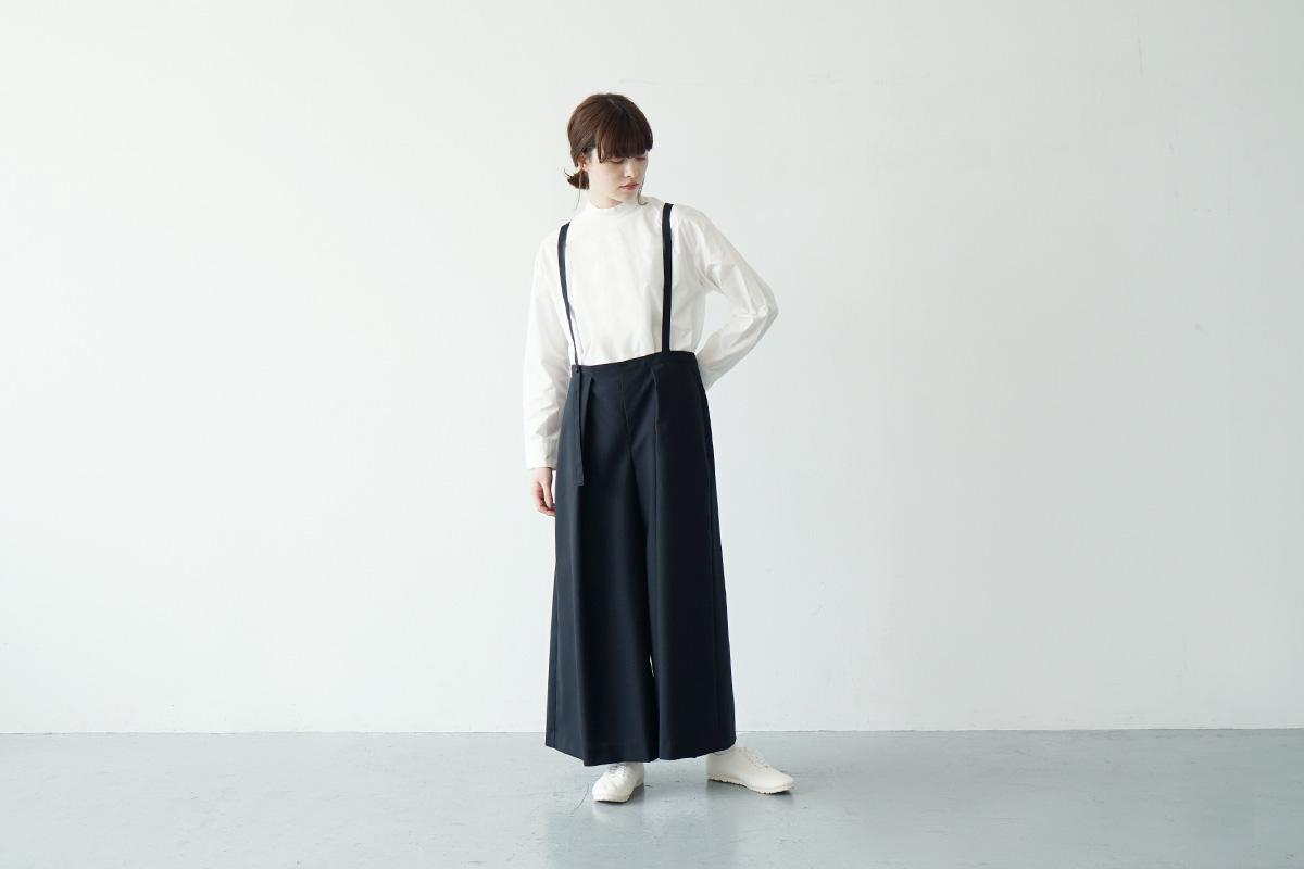 Mochi suspender wide pants [mo-pt-01/black]