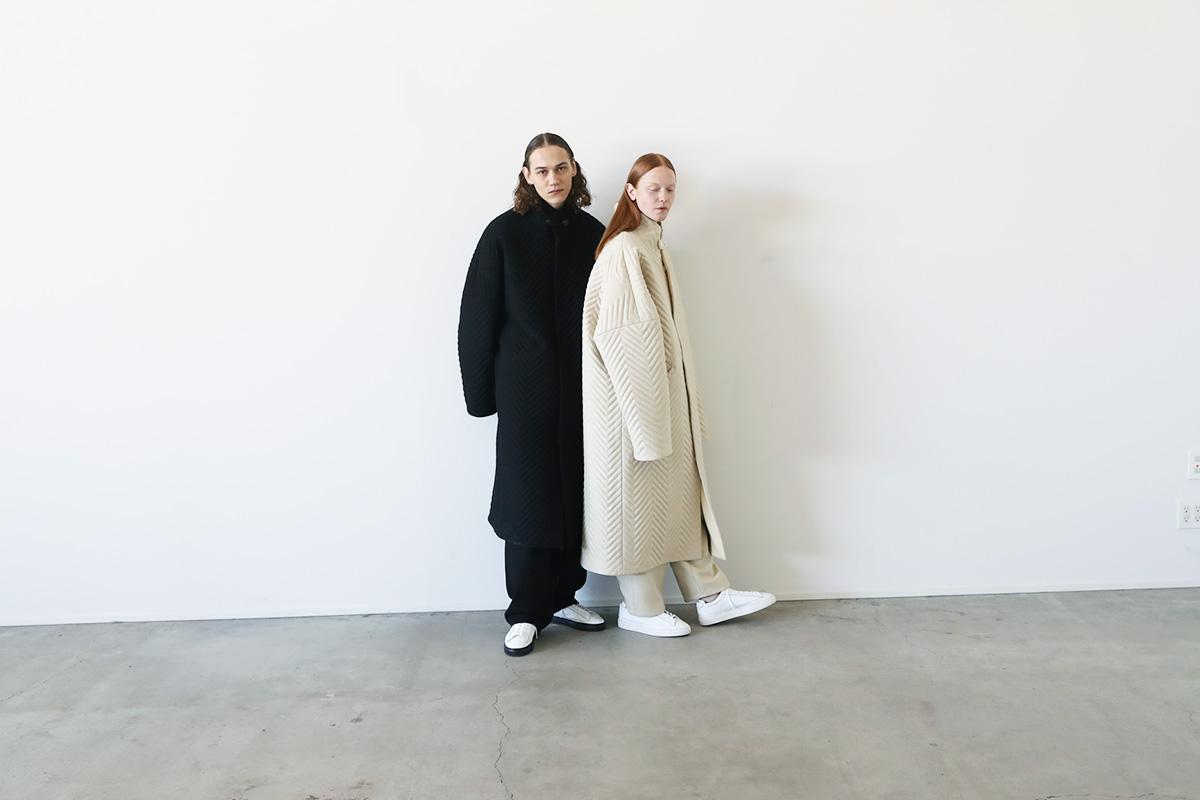 VU ヴウ Herringbone quilt coat vu-a12-c14[BLACK]
