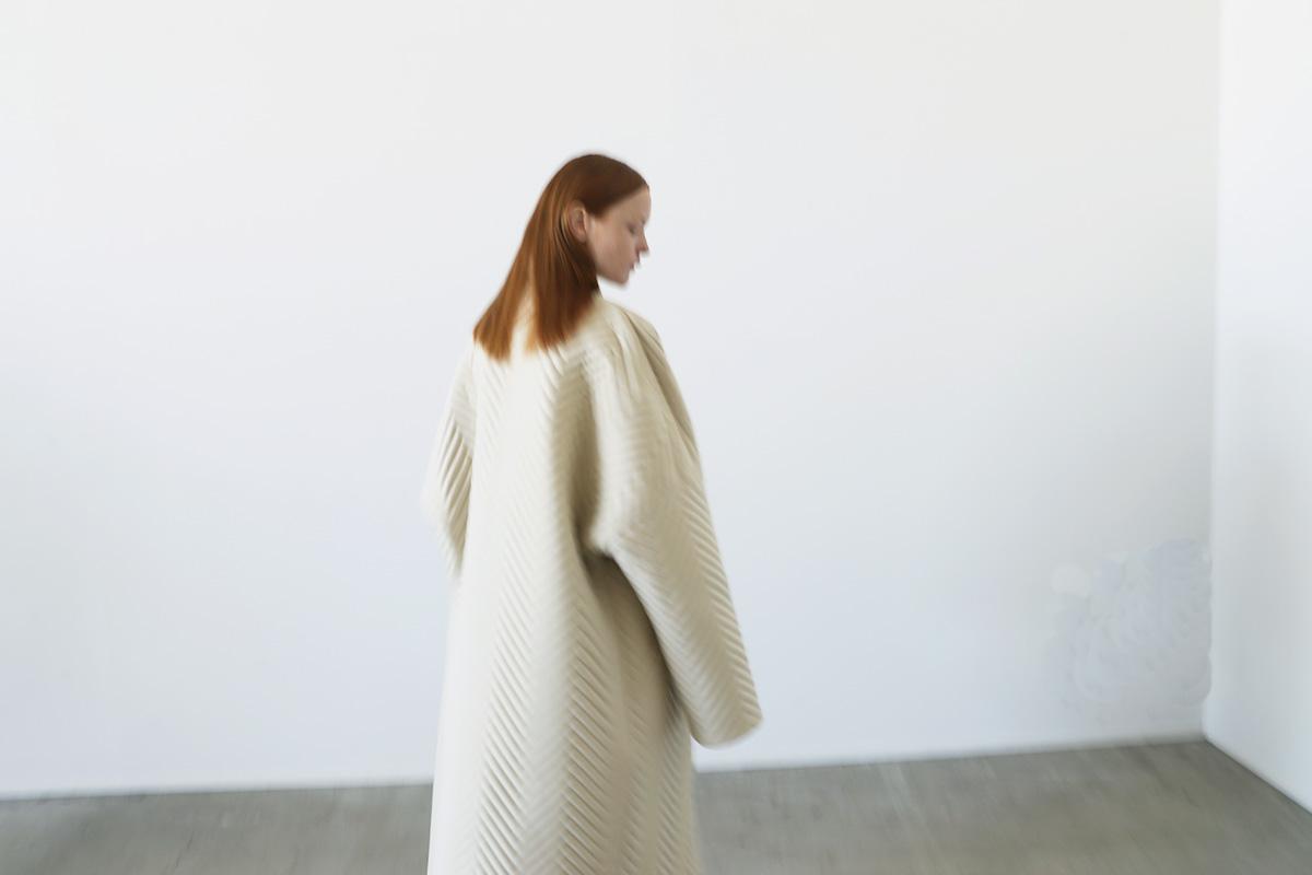 VU ヴウ Herringbone quilt coat vu-a12-c14[ICE GRAY]