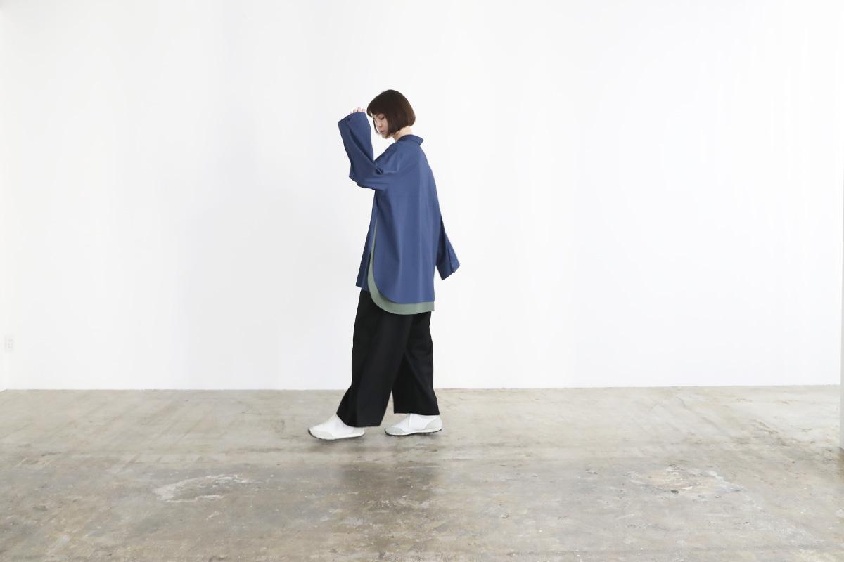VUy ヴウワイ two slit shirt vuy-a12-s01[BLUE]