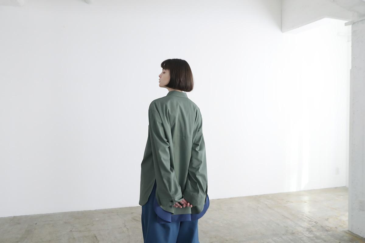 VUy ヴウワイ two slit shirt vuy-a12-s01[GREEN]