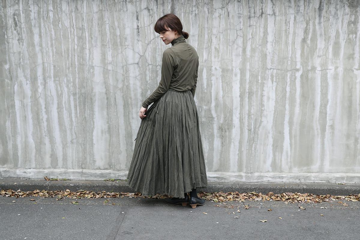 long skirt I [A221-30/khaki]