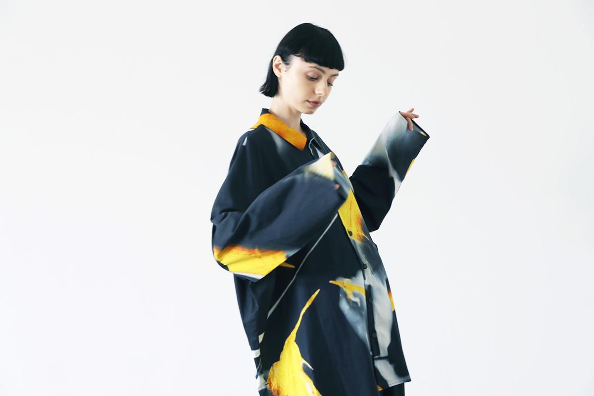 VUy ヴウワイ 感覚ピエロ×macromauro×VUy <br>original classic shirt vuy-s22-os06[PAINT BLACK]