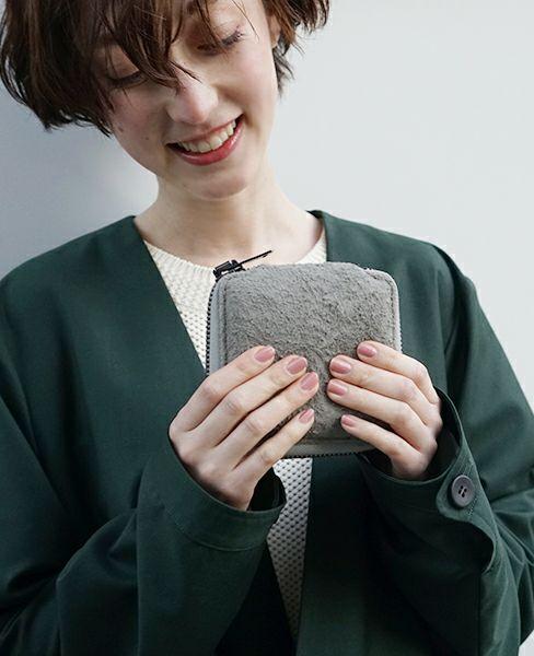 macromauro マクロマウロ Elk-N8 wallet[Suede Gray]