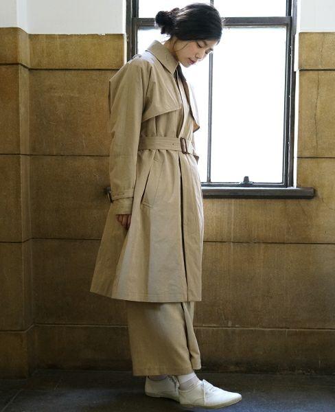 suzuki takayuki スズキタカユキ trench coat [nude]