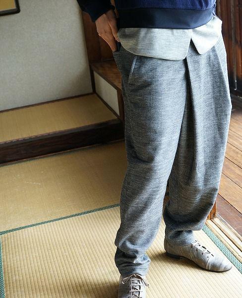 ohta gray pants[16aw-pt-00G]
