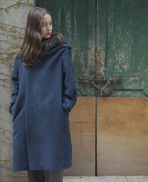 ohta オオタ navy coat[16aw-jk-04N]