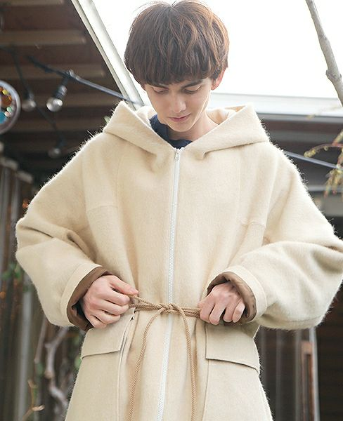 Edwina Hoerl HOODED COAT [EH33C-02 A.off white]