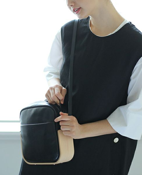 _Fot plywood bag _shoulder [0101bs・black]