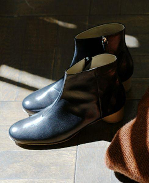 _Fot wood heel boots 35_circle〇