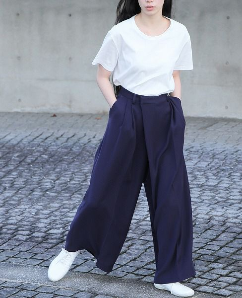 hatra ハトラ Wrap Sway Pants VE[BT01-NAVY]