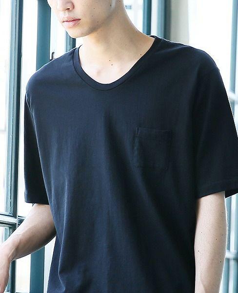 suzuki takayuki スズキタカユキ pocket t-shirts[A192-01/black]