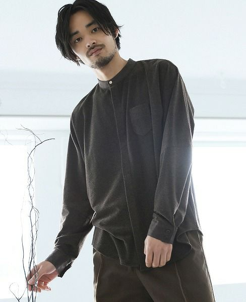 ohta brown pile shirts[st-11B]