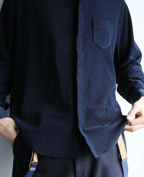 ohta navy pile shirts[st-11N]
