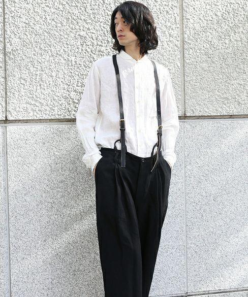 suzuki takayuki スズキタカユキ suspenders[T005-04/black]