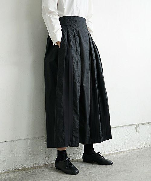 Mochi モチ tuck long skirt [19SS-SK01/black]