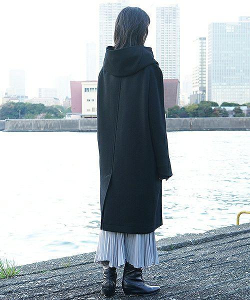 hatra ハトラ coat-Toggle Calm Coat[OU06-Black]