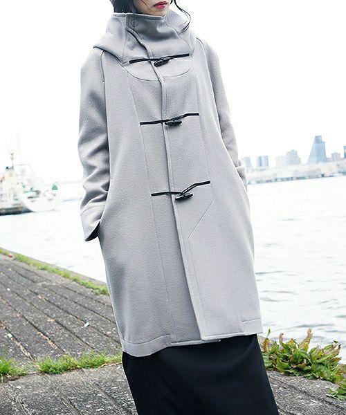 hatra ハトラ coat-Toggle Calm Coat[OU06-Grey]