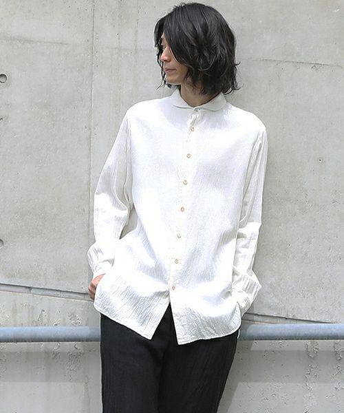 suzuki takayuki スズキタカユキ one-piece-shawl-collar shirt[A203-04/nude]
