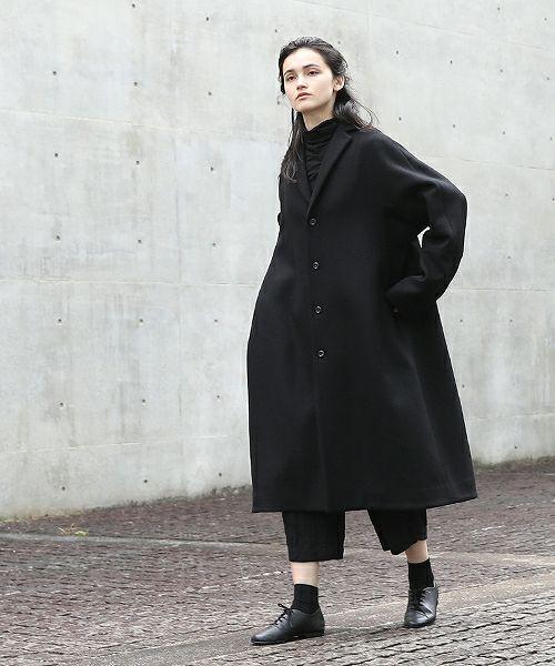suzuki takayuki スズキタカユキ tailored-collar coat[A201-22/black]:i
