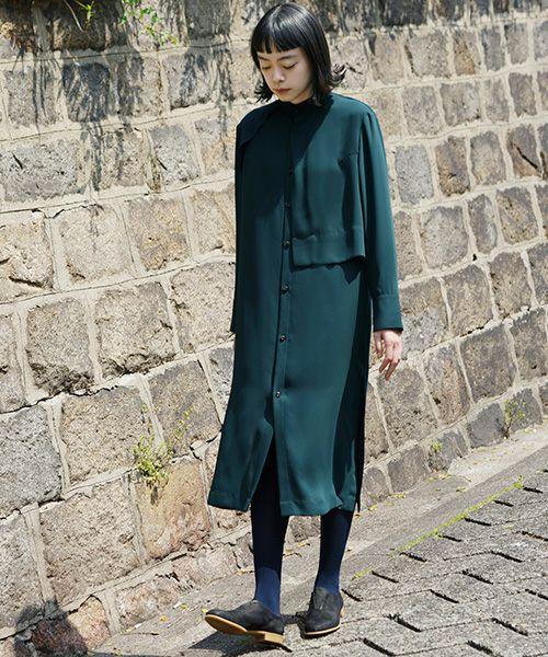 ohta dark green dress[op-16G]