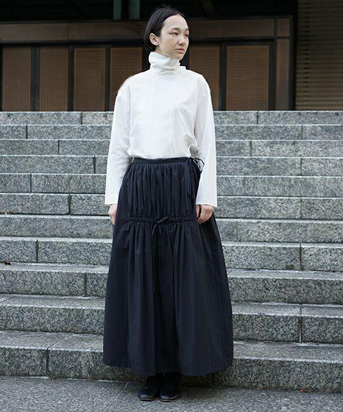 Mochi モチ gather long skirt [ma9-sk-01]