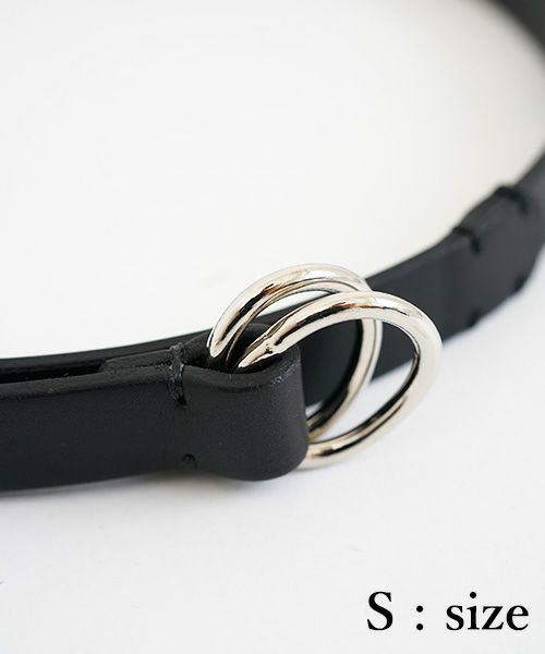 Aeta  アエタ BL02 OVAL RING BELT[BLACK]