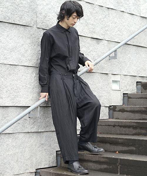 suzuki takayuki スズキタカユキ wide legged pants[S202-18/black]
