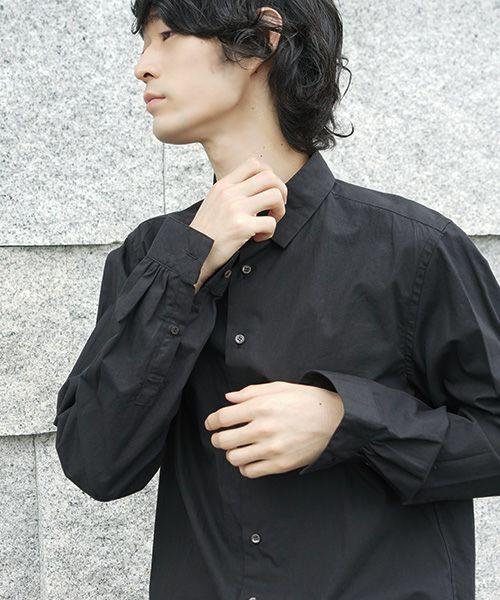 suzuki takayuki スズキタカユキ dress shirt[T003-01/black]