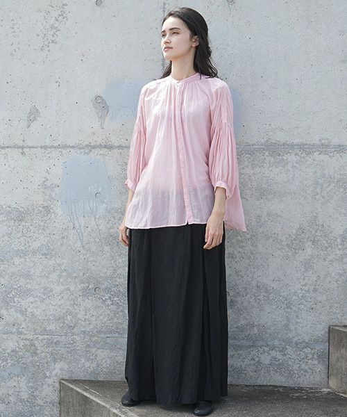 suzuki takayuki スズキタカユキ puff-sleeve blouse[S201-15/pink]