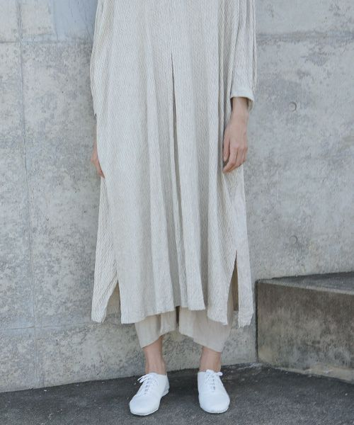 suzuki takayuki スズキタカユキ peasant dress ii[S201-20/nude stripe]