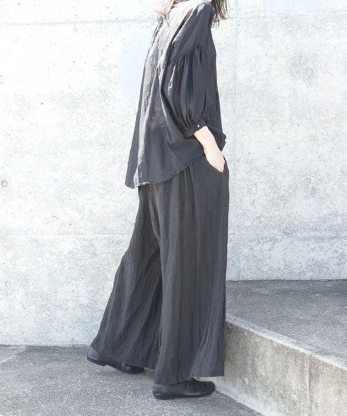 suzuki takayuki スズキタカユキ wrapped pants i[S202-15/black]