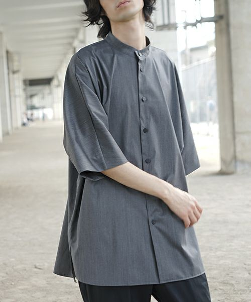 neverlamp ネバーランプ standcolor shirt nl-20SS-S03[GRAY]