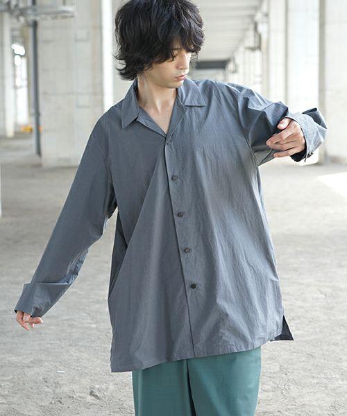 neverlamp ネバーランプ opencolor shirt nl-20SS-S04[GRAY]